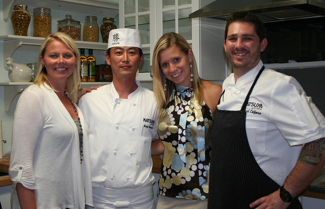 Chef Molly Kaminski-RFS Director of Operations, Chef Kenji Haruki, Oana Borcoman-Katsuya event sales manager and Chef David Coffman