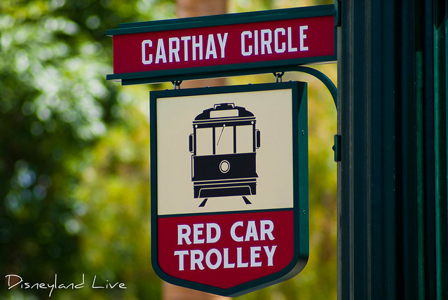 Buena Vista Street Construction - Carthay Circle Red Trolley Stop