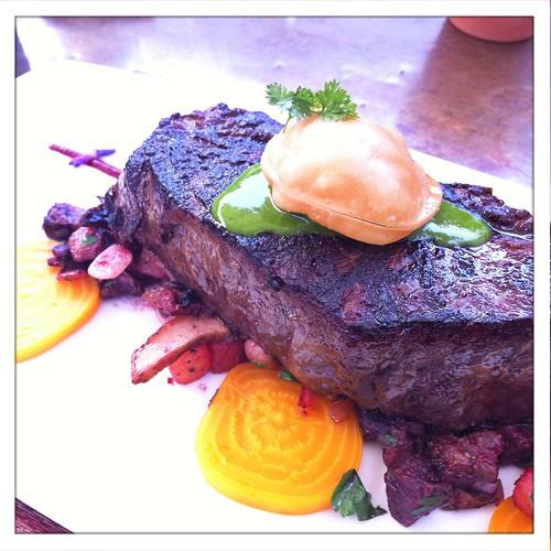 Wine Cask: Grilled Wagyu New York Strip