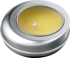 Citronella scented candle whit travel tin