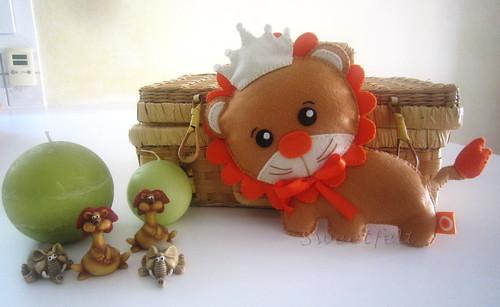 ♥♥♥ Léo, um leãozinho muito feroz... Grrrrr... by sweetfelt \ ideias em feltro
