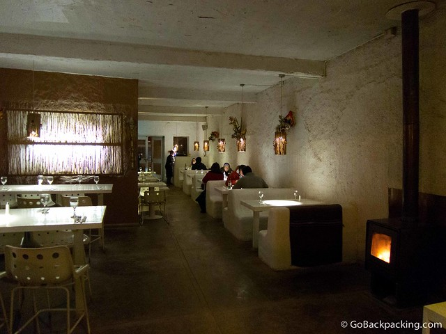 Inside Blanco Restaurant