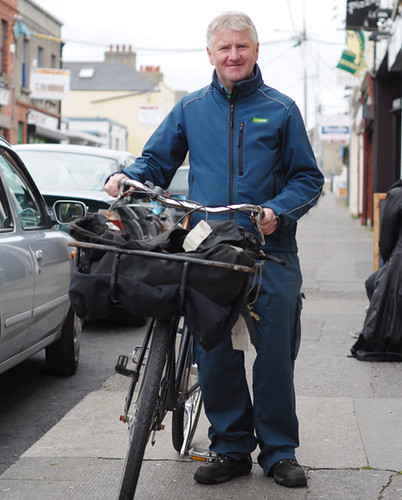 An Post by Bicycle, Dun Laoghaire
