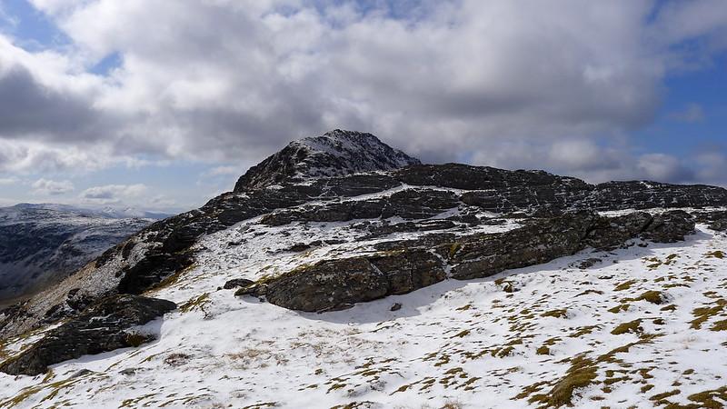 The small plateau on Bidein a' Choire Sheasgaich