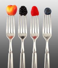Photo of Berries On Forks by my talented friend Pat Anderson (digiteyes)