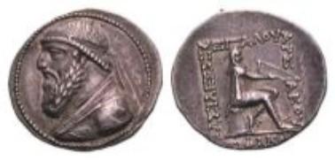Parthians, Mithradates II, tetradrachm