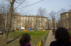 Aire de jeu dans un quartier d'habitation