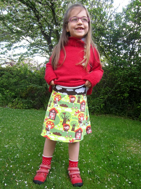 Little Red Riding Hood tennis skirt full