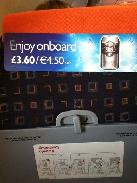 ads everywhere on Easyjet planes