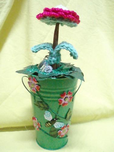 Vasos metalicos combinados com lã