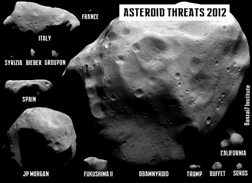 ASTEROID THREATS 2012 by Colonel Flick