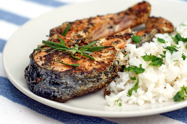 Grilled salmon steaks with herb butter | Flickr - Photo Sharing!