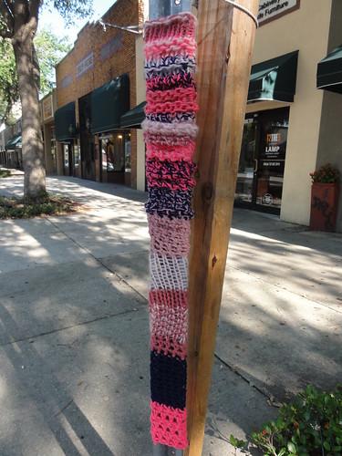 Guerilla knitting, close up