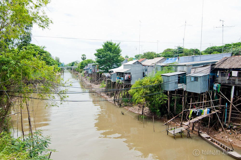 Houses around Mekong Delta