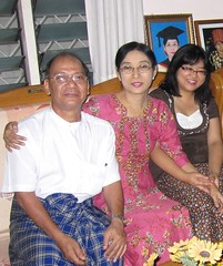 My uncle, aunt and me at their home