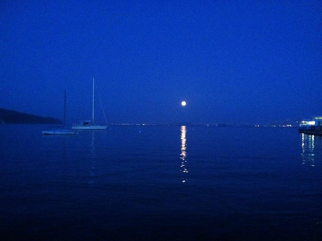 supermoon, sausalito