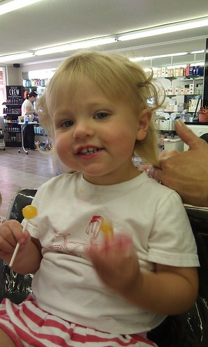 Caroline's first cut by sweet mondays
