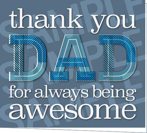Thank You Dad For Always Being Awesome Printable Greeting