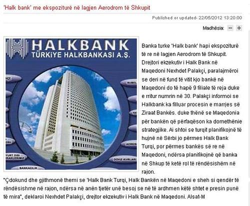 'Halk bank' me ekspoziturë në lagjen Aerodrom të Shkupit