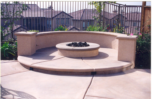 Beautiful Pacific Pools And Patios Custom Outdoor Fire Pit With Seating Bench Flickr .