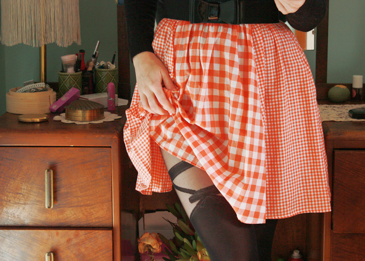 black white coral gingham b