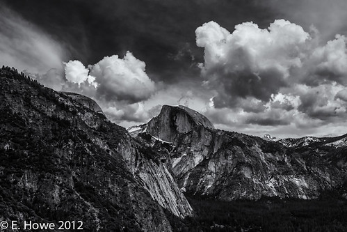Edie's Image of the Day: Clouds and Half Dome