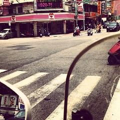 View from the #moped.  I'll survive.