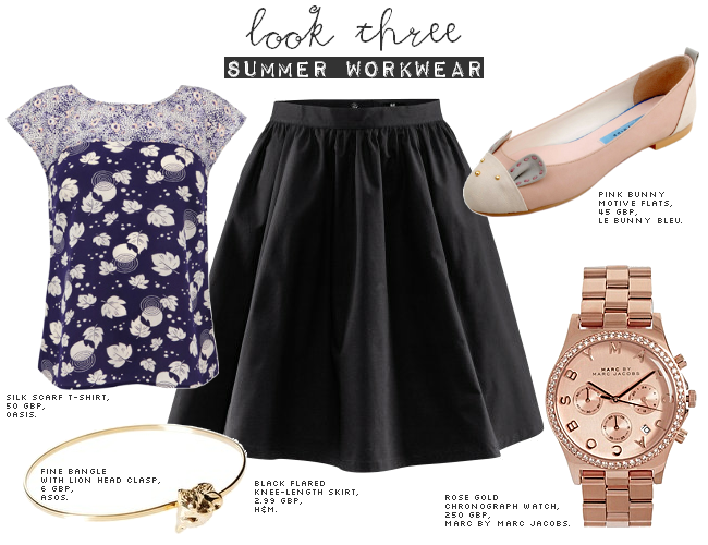 daisybutter - UK Style and Fashion Blog: ways to wear, how to wear, SS12, oasis scarf print, H&M, marc jacobs rose gold chronograph watch, le bunny bleu