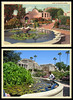 photo & postcard - Mission San Juan Capistrano Then & Now 2