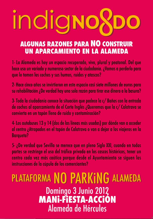 ManiFIESTAción contra el aparacamiento de la Alameda de Hércules (Sevilla)