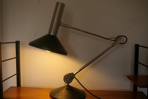 Hillebrand design lampe de bureau xl vintage retro modernist desk light 60s 70s - Lampe vintage occasion ...