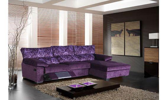 Sofas de tres plazas con chaise longue derecha con una for Sofa de una plaza