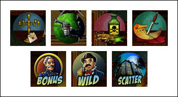 free Mystery at the Mansion slot game symbols