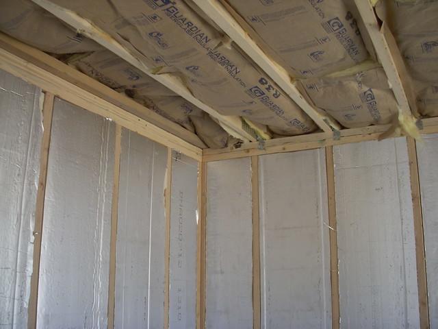 5 30 12 insulating the shed 3 flickr photo sharing. Black Bedroom Furniture Sets. Home Design Ideas