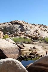 Barker dam waters and desert