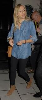 Sienna Miller Denim Shirt Celebrity Style Woman's Fashion