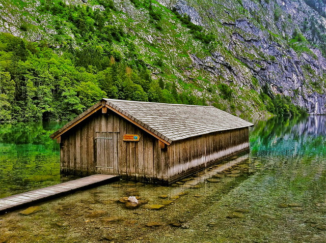 A boat-house on Lake Obersee