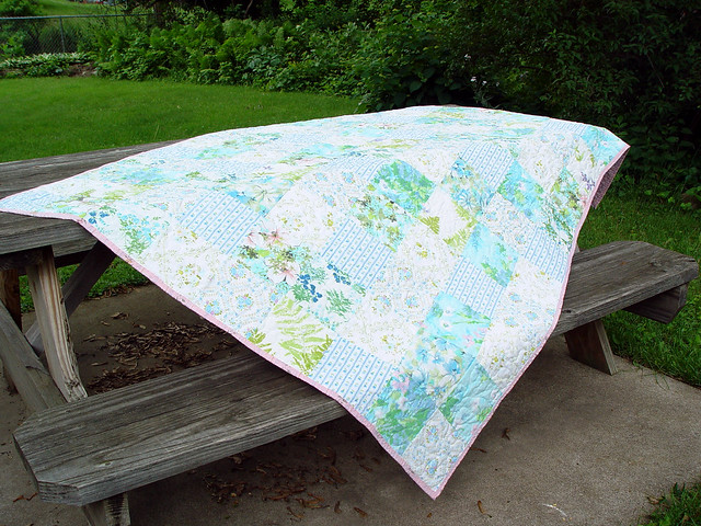 vintage sheet quilt, view 2