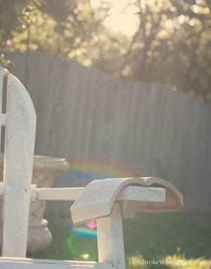 BLOG empty chair with rainbow