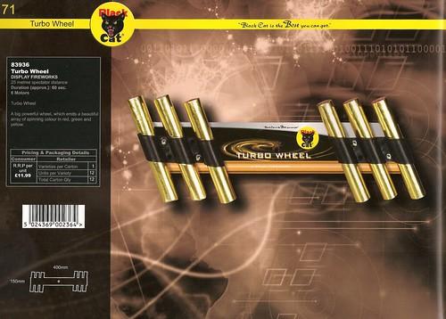 Black Cat Fireworks 2012 - Turbo Wheel