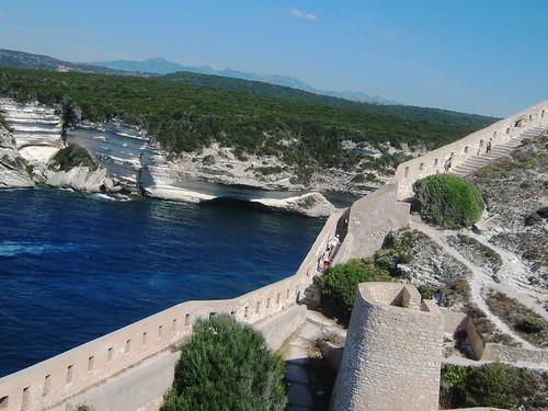 Fortress walls, Bonifacio, Corsica