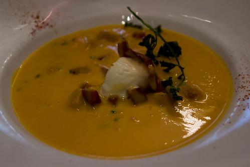 Sweet Potato Soup at Les Papilles