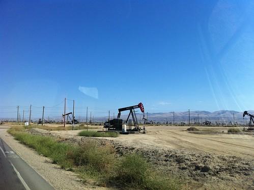 Oil fields west of I-5