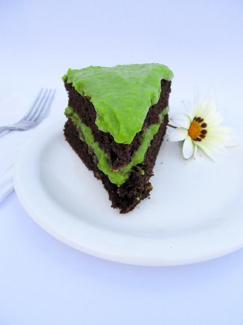 bolo de chocolate, abobora e abacate