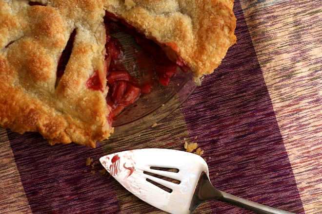 strawberry rhubarb pie 9