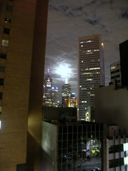 Watery Moon over Melbourne