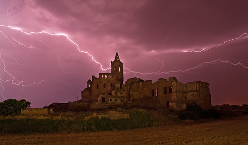 Thunderstorm over Belchite