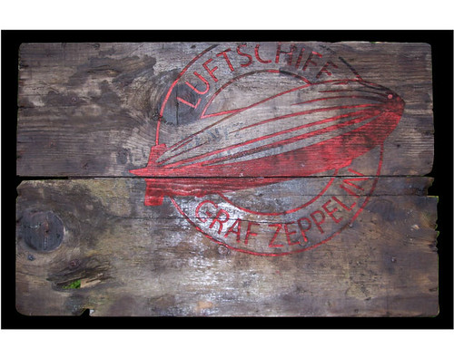 graf zeppelin wooden sign by broken toys