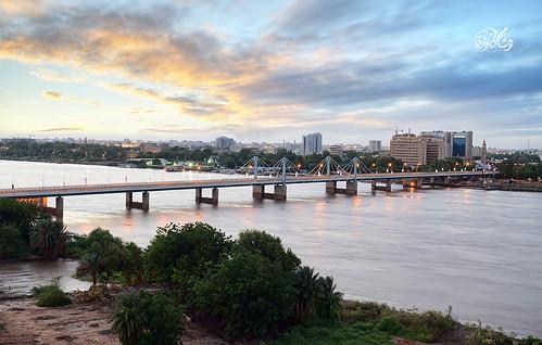 sudan khartoum hisham bluenile karouri hishamkarouri nileriversunrise macnimirbridge