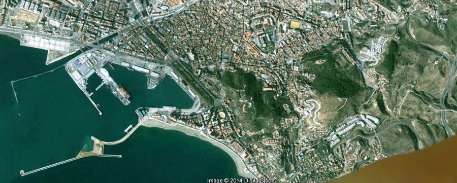 antes, urbanismo, foto aérea, desastre, urbanístico, planeamiento, urbano, construcción, Escuela de Arquitectura de Málaga, Puerto de Málaga